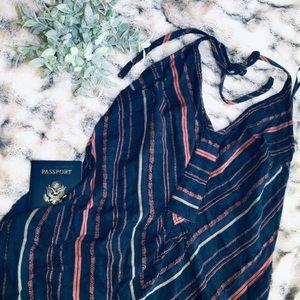 Boho Halter Dress w/ Pockets